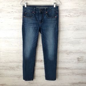 AMERICAN EAGLE Super Stretch Skinny Jeans 4 SHORT